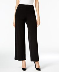 Alfani Prima Pull On Wide Leg Pants Only At Macy's Black