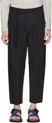 Attachment Navy Cotton Belted Trousers