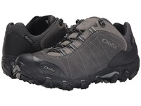 Oboz Bridger Low Bdry Dark Shadow Men's Shoes Black
