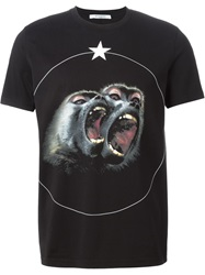 Givenchy Monkey Print T Shirt Black
