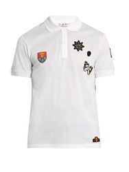 Alexander Mcqueen Badge Applique Polo Shirt White