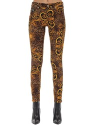 Versace Archive Print Skinny Jeans Gold