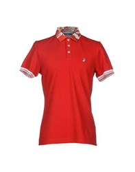 Moschino Couture Topwear Polo Shirts Men Red