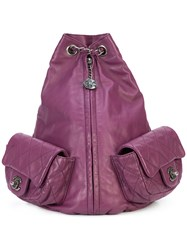 Chanel Vintage Large Backpack Is Back Pink And Purple
