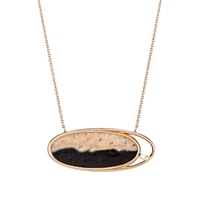 Monique Pean Oval Pendant Necklace