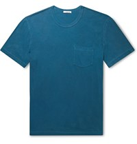 James Perse Combed Cotton Jersey T Shirt Blue