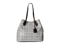 Cole Haan Abbot Large Tote White Black Snake Print Tote Handbags
