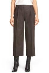 Lafayette 148 New York 'Rivington' Crop Pants Brown