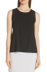 Boss Istora Stretch Silk Top Black