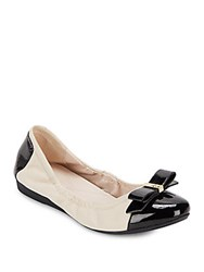 Cole Haan Elsie Leather Ballet Flats White