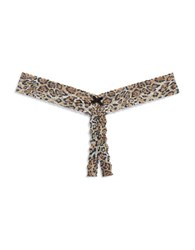 Hanky Panky Plus Leopard Print Crotchless Thong