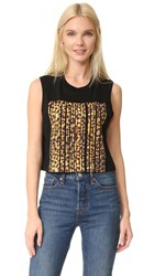Alexander Wang Cropped Tank With Barcode Matrix