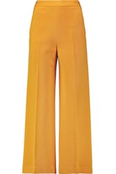 M Missoni Wool Blend Wide Leg Pants Saffron