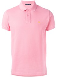 Etro Logo Embroidery Polo Shirt Pink Purple
