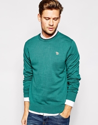 Paul Smith Jeans Jumper With Zebra Logo Green