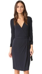 Diane Von Furstenberg New Julian Two Wrap Dress Navy