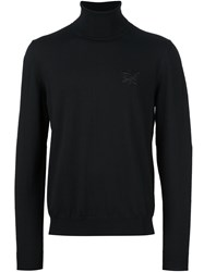 Dsquared2 Embroidered Kanji Turtleneck Jumper Black