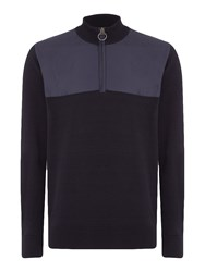 Barbour Men's Teflon Spruce Half Zip Jumper Navy