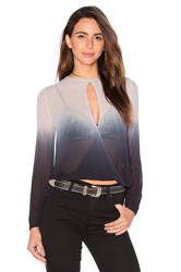 Young Fabulous And Broke Caliante Wrap Top Gray