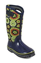 Bogs Women's Classic Pansies Waterproof Insulated Boot Royal Multi