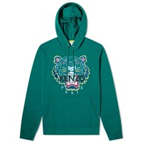 Kenzo Embroidered Tiger Hoody Green