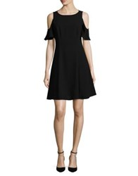 Nue By Shani Cold Shoulder Fit And Flared Dress Black