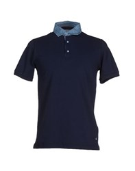 Brooksfield Topwear Polo Shirts Men Dark Blue