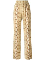 Givenchy Snakeskin Print Trousers Nude Neutrals