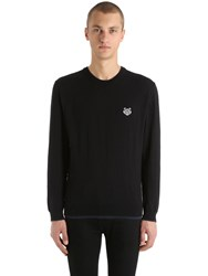 Kenzo Tiger Patch Cotton Blend Sweater Black