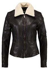 Maze Limone Leather Jacket Dark Brown