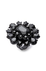Natasha Couture Women's Crystal Flower Adjustable Ring
