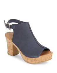 Kenneth Cole Reaction Tole Tally Block Heel Sandals Navy