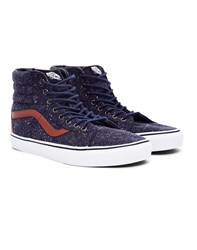 Vans Sk8 Hi Reissue Trainer Wool And Leather Green Blue Multi