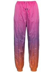 House Of Holland Stripe Print Ripstop Track Pants Pink