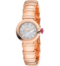 Bulgari Lvcea 18Kt Pink Gold Mother Of Pearl And Diamond Watch