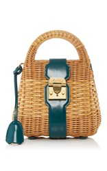 Mark Cross Manray Mini Satchel Blue