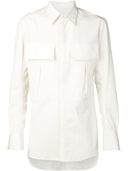 Song For The Mute Cargo Pocket Shirt White