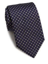 Eton Of Sweden Floral Silk Tie Yeloow Blue