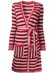 Missoni Zig Zag Belted Cardi Coat Red