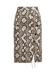 Altuzarra Curry Snake Print Pencil Skirt Animal