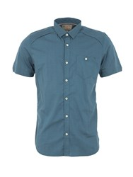 Garcia Mens Short Sleeved Cotton Print Shirt Green