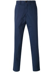 Michael Kors Casual Slim Trousers Men Cotton Spandex Elastane 34 Blue