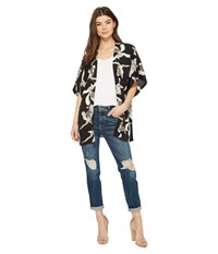 Steve Madden Hibiscus Contemporary Kimono Neutral Clothing