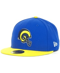 New Era Los Angeles Rams Historic Basic 59Fifty Hat Royalblue Yellow