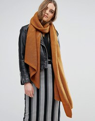 Pieces Oversized Scarf In Tobacco Cathay Spice Orange