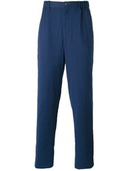 Issey Miyake Men Loose Fit Trousers Blue