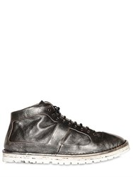 Marsell Laminated Leather Mid Top Sneakers
