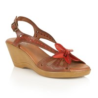 Lotus Trevi Wedge Sandals Tan