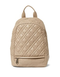 Steve Madden Quilter Faux Leather Backpack Taupe