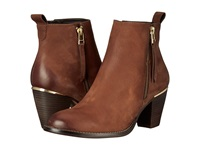 Steve Madden Wantagh Cognac Leather Women's Dress Zip Boots Brown